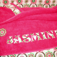 Custom Appliqued Hooded Towel In Pi.. on Luulla