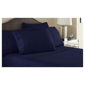 Regal Comfort Bamboo Luxury 2100 Series Hotel Quality Sheet Full Navy Blue