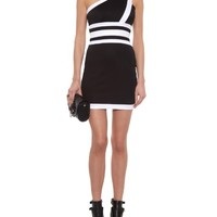 One-shoulder mini dress | Balmain | MATCHESFASHION.COM US