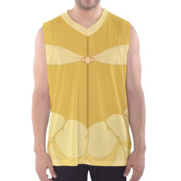 Men's Belle Beauty and the Beast Inspired Athletic Tank Top