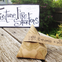 $3.00 A Fortune Fire Starter adds Flare to a Firepit by FireStyler
