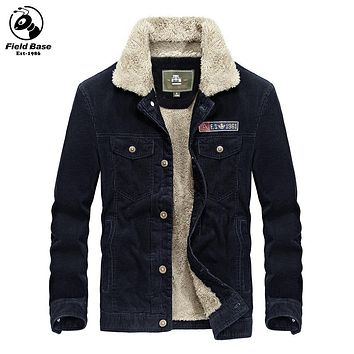 Winter Jacket Men Thicken Warm Parkas For Men Fur Lining Casual Jackets Winter Cotton Coats Male Brand-Clothing FL-58128