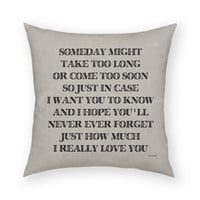 "I Really Love You by Artist Lisa Weedn Artistic 18""x18"" Throw Pillow"