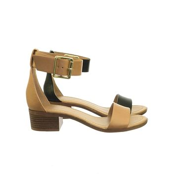 Hudson Low Block Stack heel Open Toe Sandal & Thick Adjustable Ankle Strap