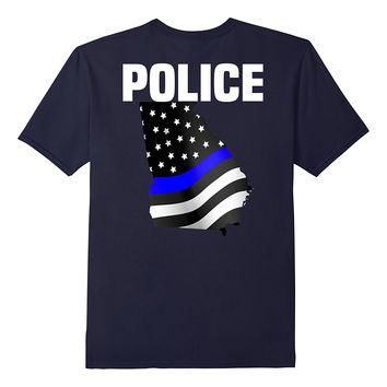 Georgia Police Officer T-Shirt for LEO Cops Law Enforcement