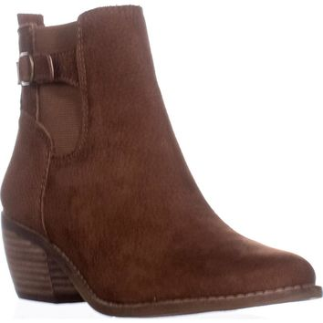 Lucky Brand Khoraa Block-Heel Ankle Boots, Toffee, 7 US / 37 EU