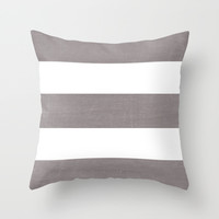 five - dark gray Throw Pillow by Her Art