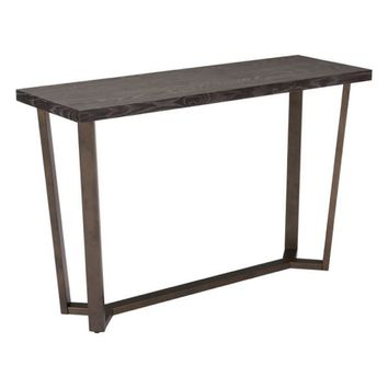 ZUO Modern Brooklyn Console Table Gray Oak &A.Brass 100664 Living Consoles