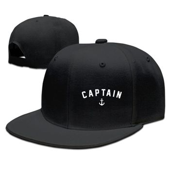 Nautical Anchor Captain Sailing Boat Funny Unisex Adult Womens Hip-hop Hats Mens Hip-hop Hats