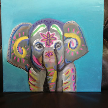 Indian inspired elephant painting