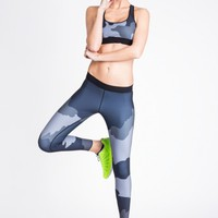 Ultra Elite Terra Print Legging in Graphite by Ultracor | Bottoms | BANDIER