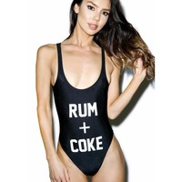 """RUM + COKE"" One Piece Swimsuit"