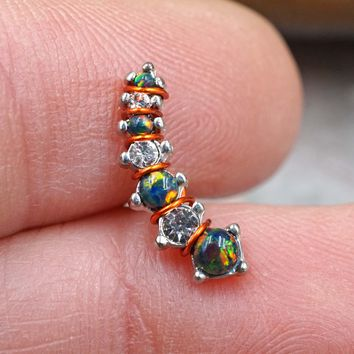 Black Opal Ear Climber Cartilage Helix