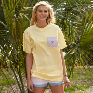 Southern Marsh Stewart Pocket Tee - Seersucker
