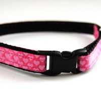 Pink Hearts Cat Collar