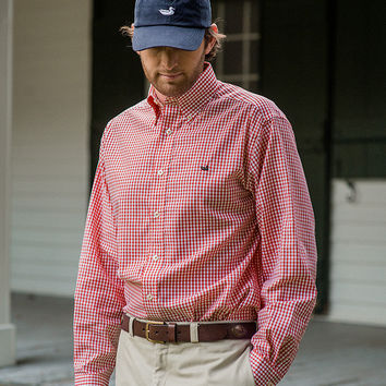 The Nashville Gingham - Wrinkle Free - Collegiate - North Carolina State University