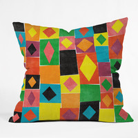 Nick Nelson Elementary Diamonds Outdoor Throw Pillow