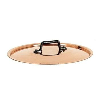 de Buyer Copper Lid w/ cast iron handle, 9.5-in