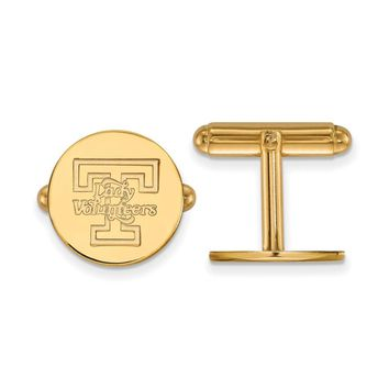 NCAA 14k Yellow Gold University of Tennessee Cuff Links