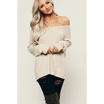 Not Today Ribbed Top (Taupe)