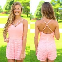 Perfectly Peach Romper