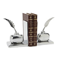 Inkwell & Pen Bookends (Set of 2)