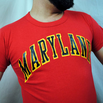 Vintage 80s University of Maryland Vintage Tee Shirt