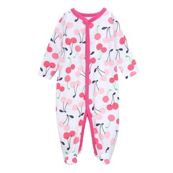 Newborn Baby Girls Boy Clothes Baby Rompers Cotton Long-sleeved Cute Cartoon Print  Infant Outfits Infant Jumpsuit