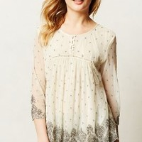 Mercury Beaded Peasant Blouse by Let Me Be Silver