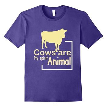 Cows Are My Spirit Animal T-Shirt - Funny Farming Tee