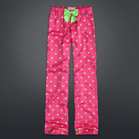 Dot & Heart Print Sleep Pants
