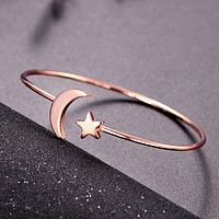 Fashion Love Women Stars Moon Bracelet