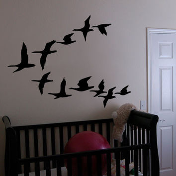 Vinyl Wall Decal Sticker Flying Geese Ducks Birds #162
