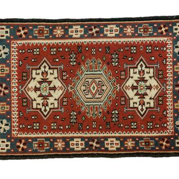 2x2.5 Vintage Persian Style Square Rug Mat