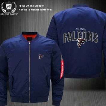 Dropshipping USA Size MA-1 Jacket Football Team Atlanta Falcons Men Flight Jacket Custom Design Printed Bomber Jacket made Men