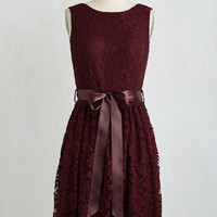 Mid-length Sleeveless A-line Lovely as Lychee Dress in Wine