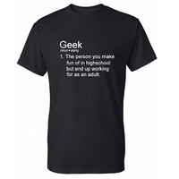 Geek Definition Shirt, Dictionary, Funny T-Shirt, Funny Tshirt, Funny T Shirt, Geek T-Shirt, Geek T Shirt, Mens, Womens, SM - 5X Plus Size