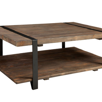 Foxford 48-inch Reclaimed Wood and Metal Coffee Table