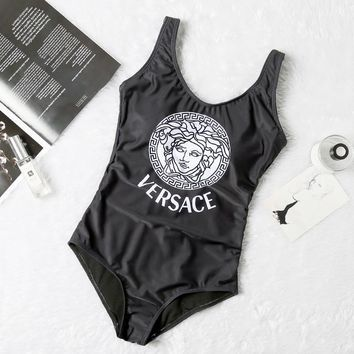 Black VERSACE One Piece Trending Bikini Set Bathing Suits Summer Beach Swimsuit Swimwear Vacaton Holiday