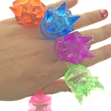 20pcs/Flicker finger colorful cheap light fashion rings birthday party supplies luminous