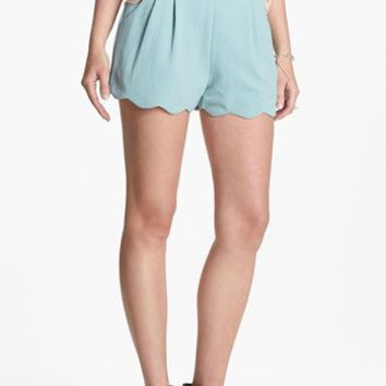 Lush Scalloped Lace Shorts (Juniors) (Online Exclusive) | Nordstrom