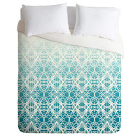 Lisa Argyropoulos Intricate Ombre Blue Duvet Cover
