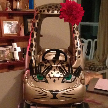 Girls Car - Cheetah Girl Blinged Out (Restyled Cozy Coupe)