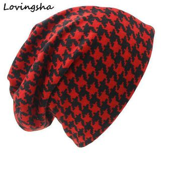 CREYL Fashion Brand Autumn Winter Dual-use Hats For Ladies thin Skullies Beanies Vintage Geometric Design Women Scarf Face Mask HT028