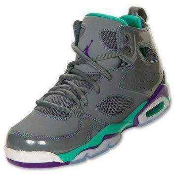 DCK7YE Girls' Grade School Jordan Flight Club 91 Basketball Shoes