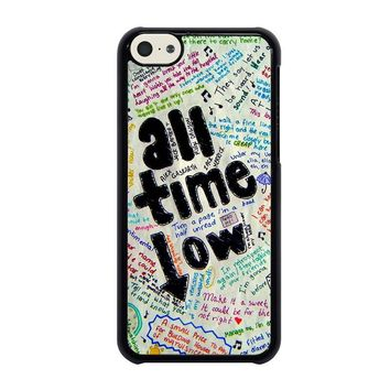 all time low colour iphone 5c case cover  number 1