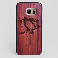 Pittsburgh Penguins Galaxy S7 Edge Case - All Wood Everything