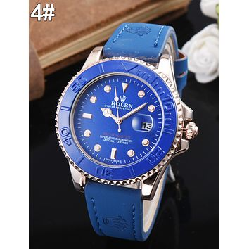 Rolex Classic Retro Women Men Movement Business Watches Wrist Watch 4#