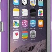 "OtterBox Defender Series iPhone 6 ONLY Case(4.7"" Version), Standard Packaging, Gunmetal Grey/Opal Purple"