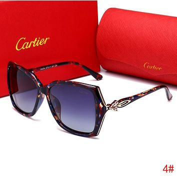 Cartier Summer Popular Woman Men Sun Shades Eyeglasses Glasses Cute Fox Head Sunglasses 4# I13517-1